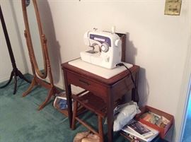 Sewing machine, patterns, sewing supplies and buttons galore!