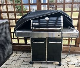 Double Weber grill...with cover