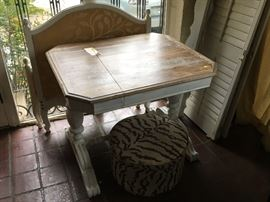 Small Table with painted base and refinished top