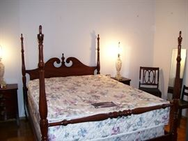 Nice vintage bedroom furniture with clean mattresses