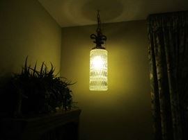 Crystal hanging lamps. There are 2