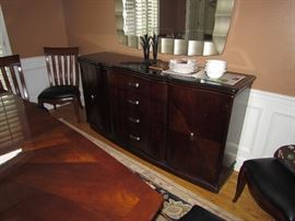 Matching buffet table and mirror