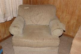 Overstuffed chair.