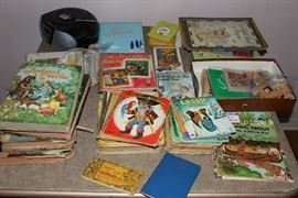 Vintage children's picture books, mostly from the late 50's/1960's including Golden Books and a copy of Little Black Sambo.