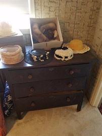 Hats and oak dresser base