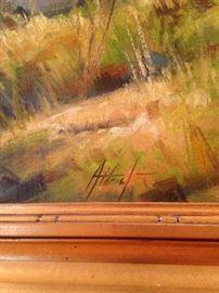 Original oil by Edward Aldridge