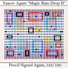 Art Agam Yaacov Serigraph Magix Rain Drop II
