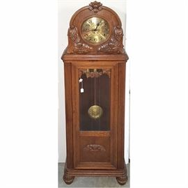 Clock Grandfathers Carved Case