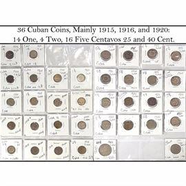 Cur Coins Cuban Centavos Early