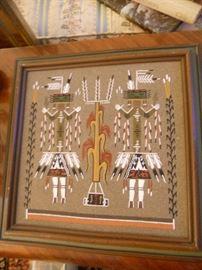 Original Indian sand painting