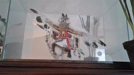 Native American Kachina doll in case signed--purchased in the 70's or 80's