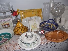 Ceramic tagine and other serving pieces