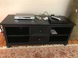 Black Painted Two-Drawer Entertainment/TV Stand