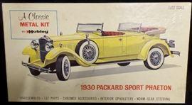 1930 Packard Sport Phaeton Metal Model Kit by Hubley