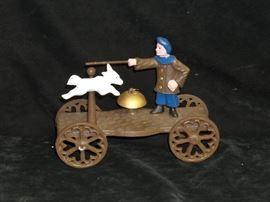 Cast Iron Circus Trainer Wagon
