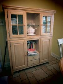 Very Nice Quality Glass, Wood Cabinet with Drawers.
