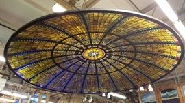 12' Diameter American Stained Glass Dome
