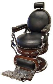Fully Restored Koken Congress Barber Chair Circa 1891