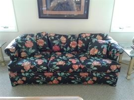 Sofa with Floral Print