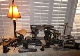 Antique scale collection