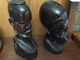 Ebony carved heads