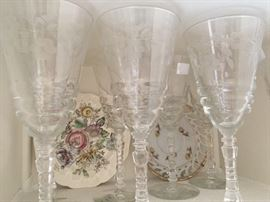 Antique stemware