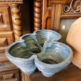 Very large unique ceramic hand made vase