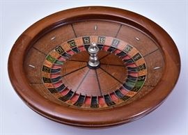 "Roulette Wheel 22"" diameter late 19th century"