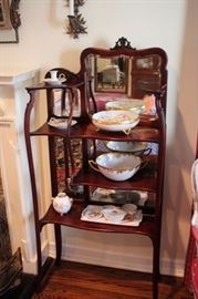 Nicely made Antique Occasional Pieces and many Decorative Serving Pieces