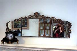 Vintage Mirror & Clock