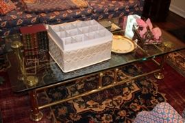 Rug, Coffee Table, Crystal and Decorative