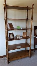 6-Shelf Solid Wood Book Shelf - $125