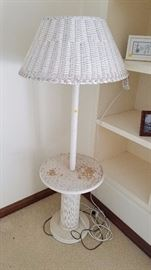 Wicker Floor Lamp (needs painting) - $15