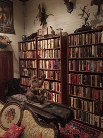 Lots of Books and Taxidermy
