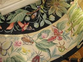 """Pettipoint rug - Neiman Marcus - measures about 7'.5"""""""