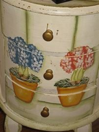 Charming hand- painted table