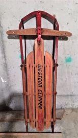 Vintage Western Clipper Sled