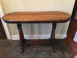 Antique oval hall table