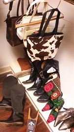 Shoes and purses of all descriptions