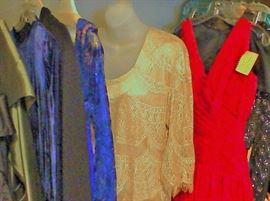 Evening wear both vintage and designer