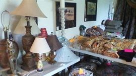 Lamps, curtains, drapery, pictures to hang, etc