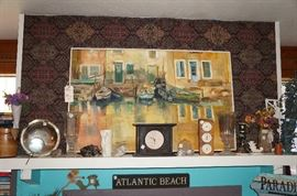 Great old painting and beachy fun decor