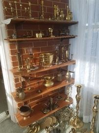 Extensive brass collection