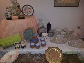 Decorative plates, vases, ashtrays, & more.