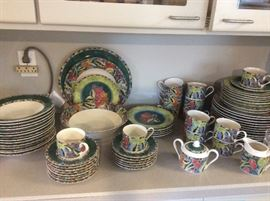 Complete dinnerware set, one of several sets