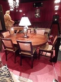 7 PIECE CRATE AND BARRELL DINING SET