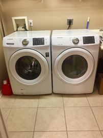Samsung new washer and dryer