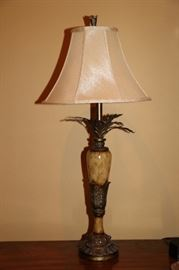 Rustic palm tree inspired, styled lamp (2 matching)