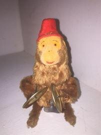 Vintage wind up monkey.