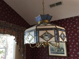 Pretty blue Stained glass light fixture